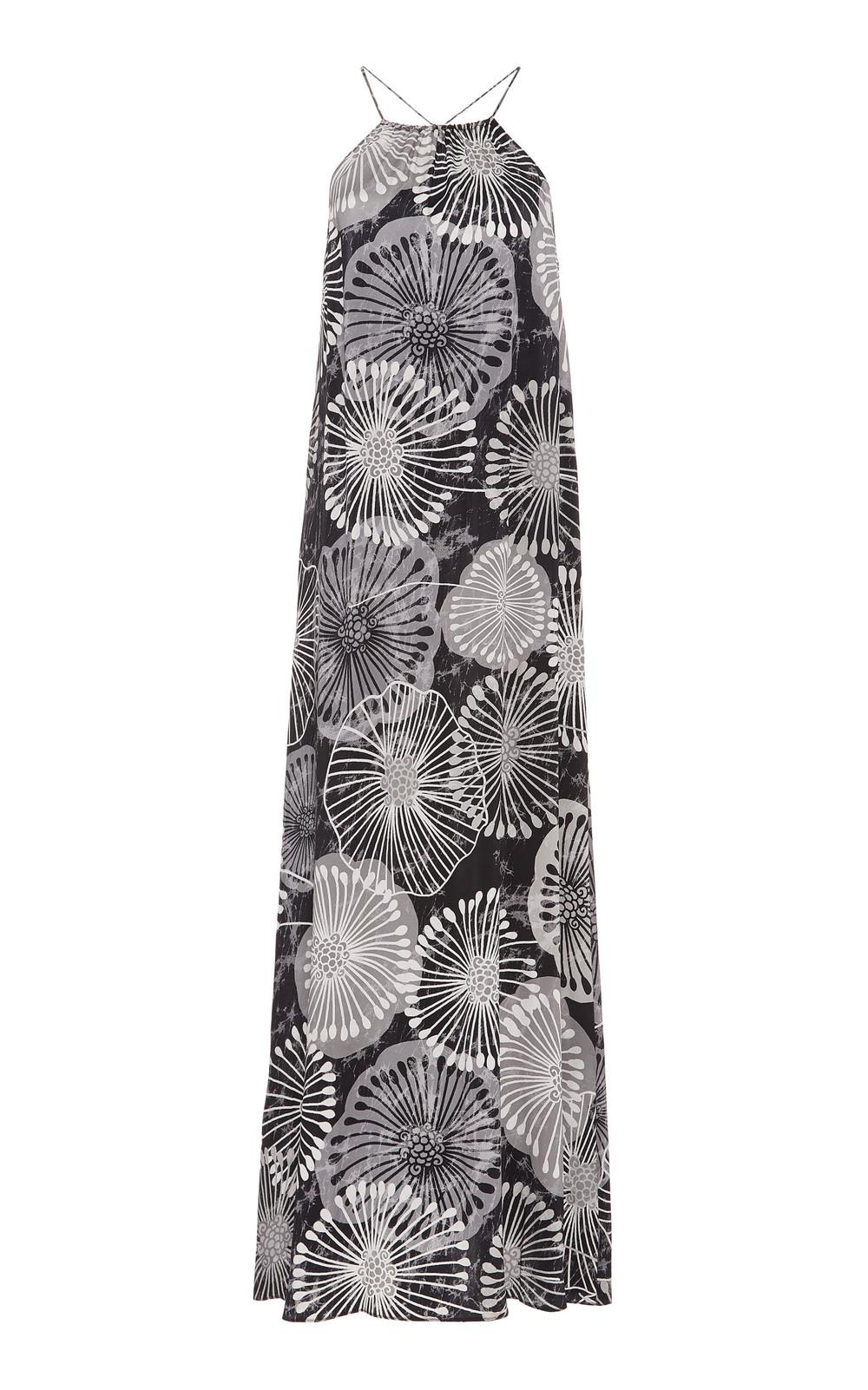 Marie France Van Damme Printed Halterneck Maxi Dress in print