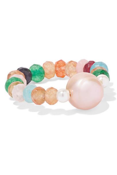 Anissa Kermiche - Coleur Caviar Pearl And Agate Ring - Gold