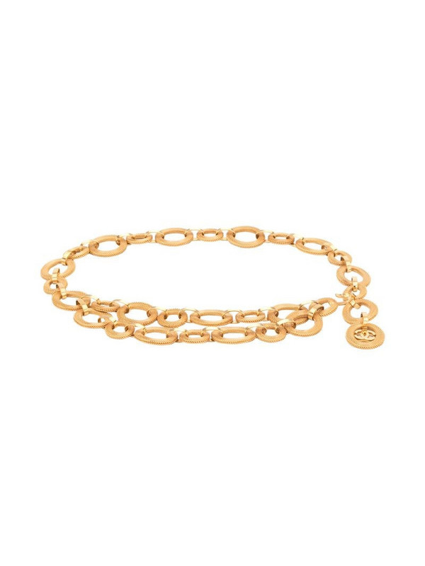 Chanel Pre-Owned CC medallion chain belt in gold