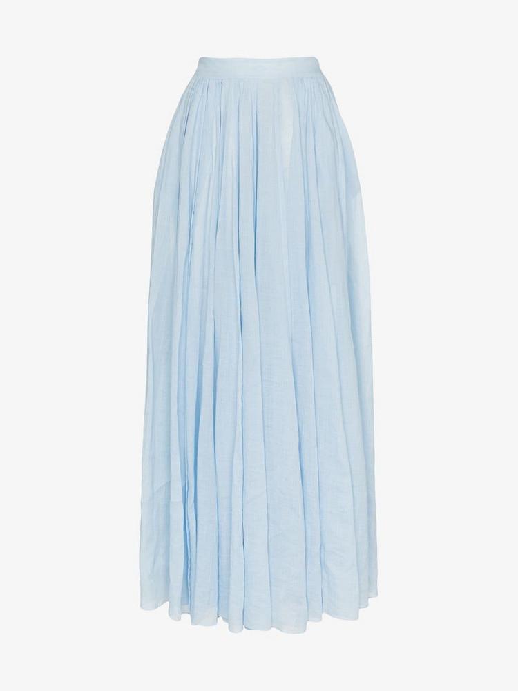 Three Graces arlene high-waisted maxi skirt in blue