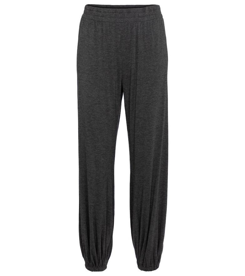 Norma Kamali High-rise sweatpants in grey