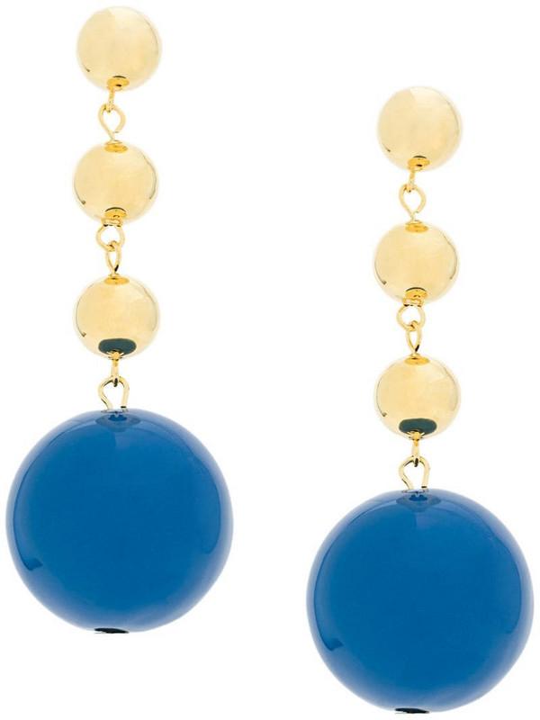 Eshvi ball drop earrings in blue