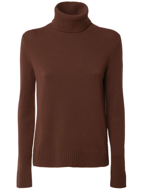LORO PIANA Parksville Baby Cashmere Knit Sweater in brown