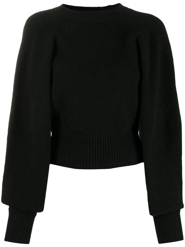 Laneus open-back jumper in black