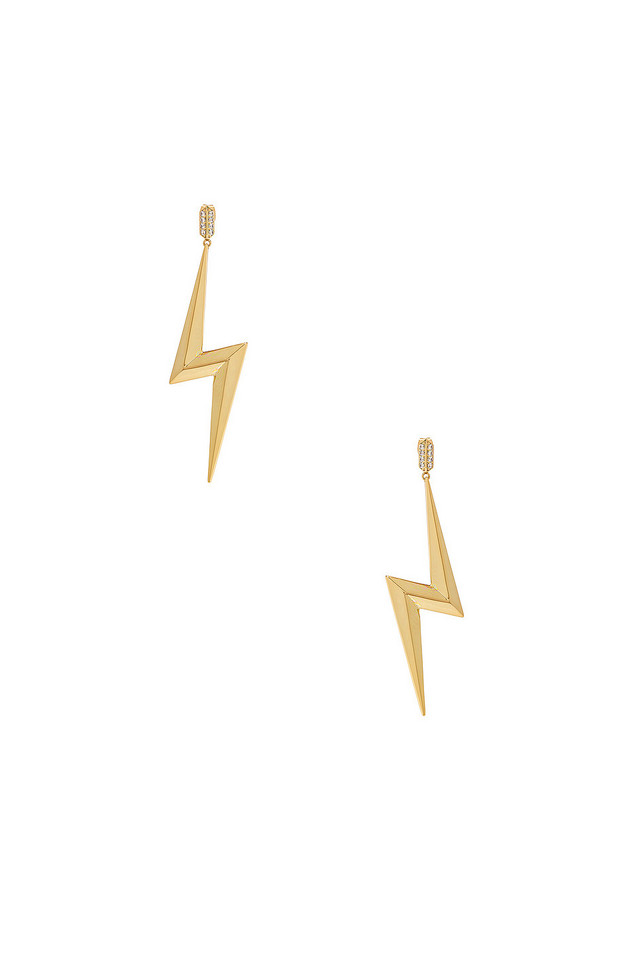 Luv AJ Bolt Statement Earrings in gold / metallic