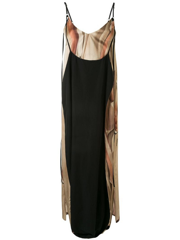 Boyarovskaya layered cami dress in black