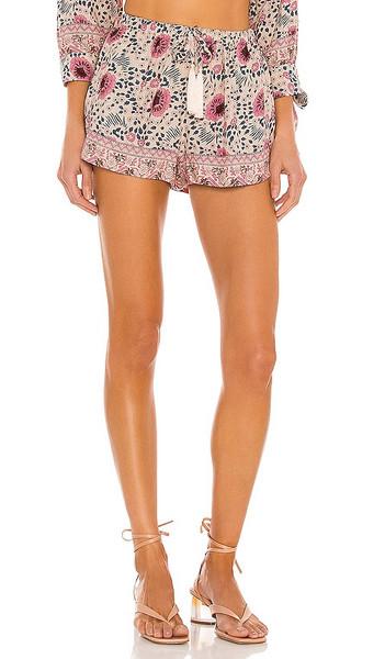 Natalie Martin Tash Shorts in Pink in cream