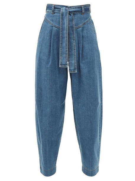 See By Chloé See By Chloé - High-rise Tapered-leg Jeans - Womens - Denim