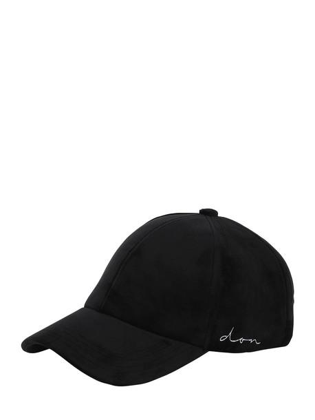 DON Velvet Baseball Hat in black