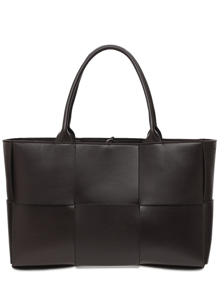 BOTTEGA VENETA Arco Intreccio Leather Tote Bag in gold