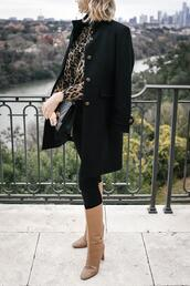 style archives | the style scribe,blogger,pants,coat,blouse,jeans,shoes,bag,jewels,animal print,black coat