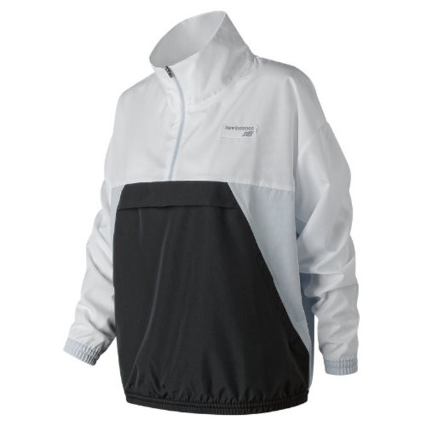New Balance 91557 Women's NB Athletics Windbreaker Pullover - Grey (WJ91557PSY)