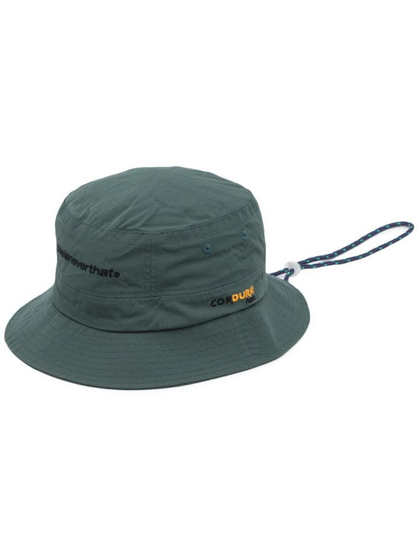 This Is Never That Cordura logo-embroidered bucket hat in green