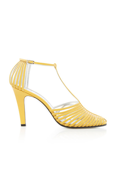 Givenchy Leather Pumps Size: 35 in yellow