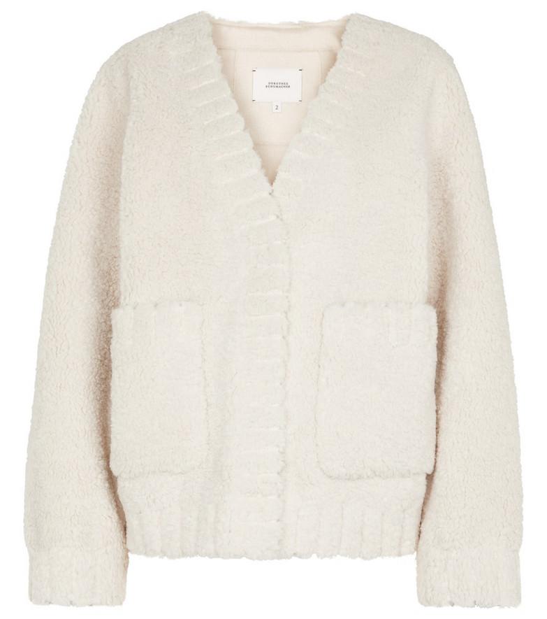 Dorothee Schumacher Twist On faux shearling jacket in white
