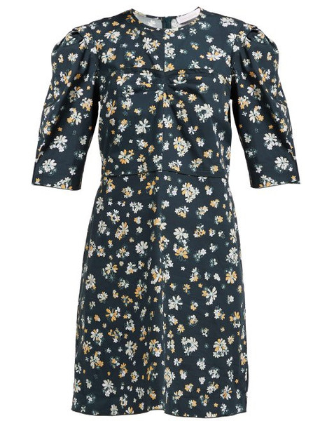 See By Chloé See By Chloé - Summer Floral Print Cotton Dress - Womens - Green Multi