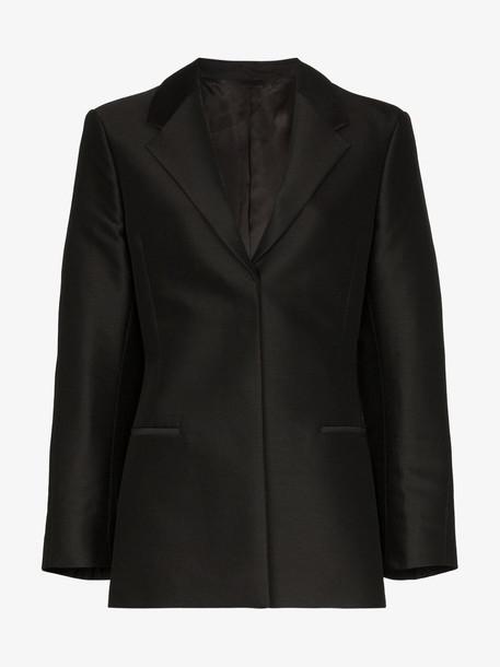 Toteme Cavo Collar Blazer Jacket in black