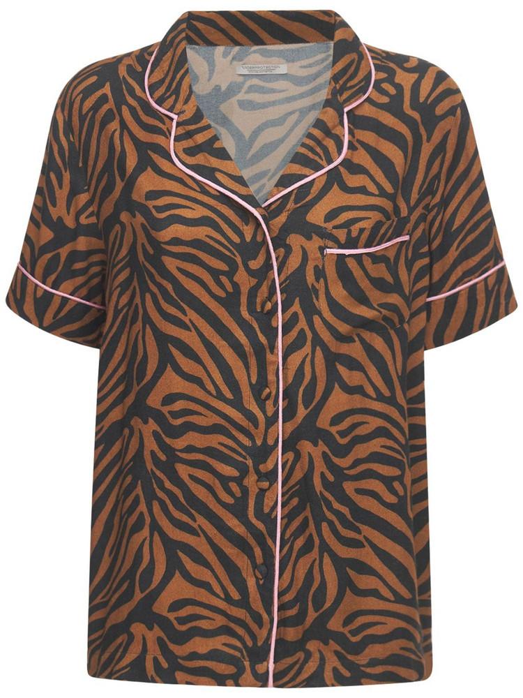 UNDERPROTECTION Rania Tiger Print Pajama Shirt
