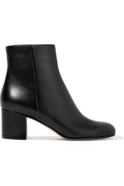 Gianvito Rossi - Margaux 60 Leather Ankle Boots - Black