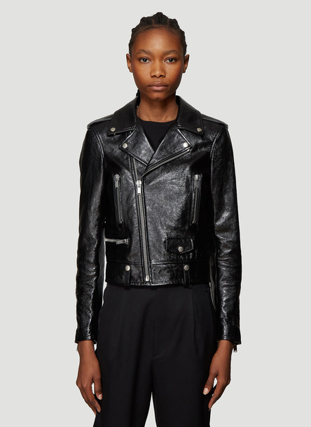 Saint Laurent Motorcycle Leather Jacket in Black size FR - 36