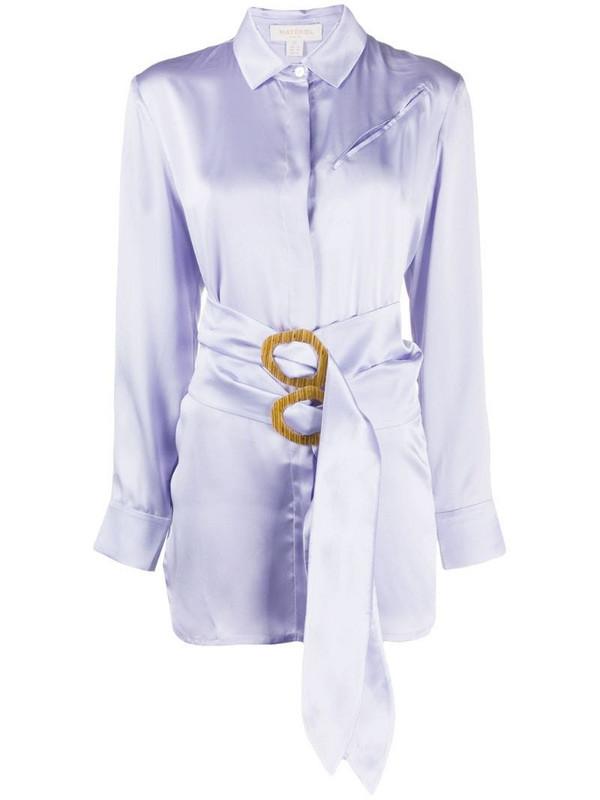 Materiel double belt shirt in purple