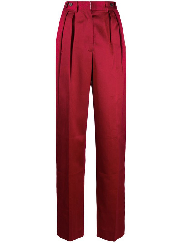 Jean Paul Gaultier Pre-Owned 1990s pleated tailored trousers in red