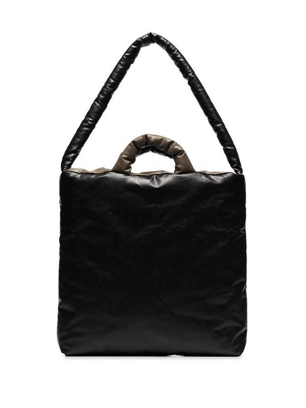 KASSL Editions Oil colour-block shoulder bag in black