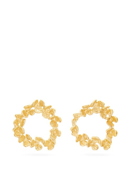 Elise Tsikis - Elbe Gold-plated Earrings - Womens - Gold
