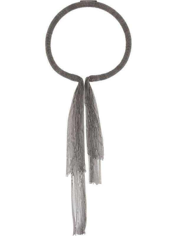 Fabiana Filippi studded fringe necklace in silver