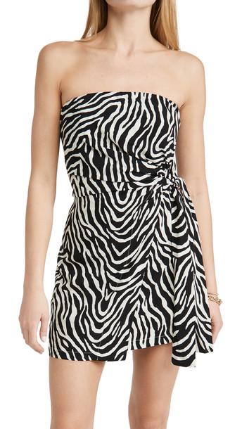 ViX Swimwear Fiorella Black Carolina Short Dress in multi