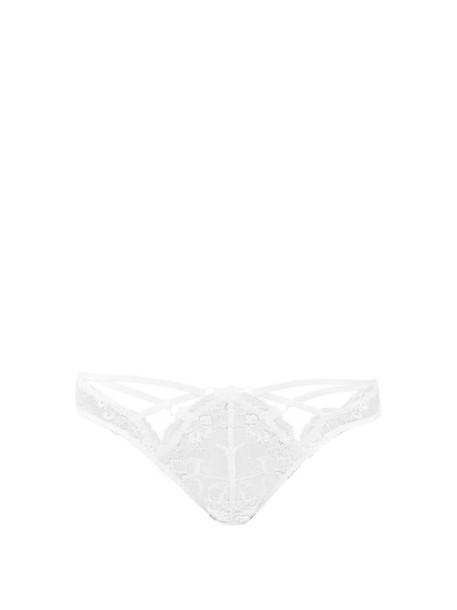 Agent Provocateur - Essie Cutout Lace Briefs - Womens - White