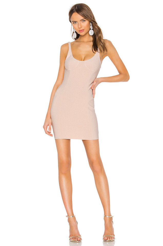 BEC&BRIDGE Amelie Mini Dress in blush