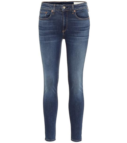 Rag & Bone Cate mid-rise skinny jeans in blue
