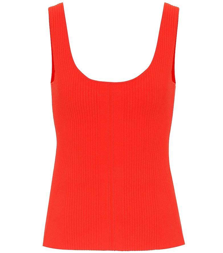 Altuzarra Yanaka ribbed-knit tank top in orange