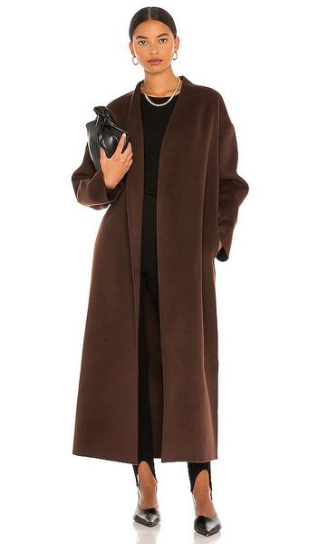 ANINE BING Hunter Coat in Chocolate in brown