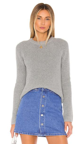 525 america Jane Raglan Shaker Pullover in Gray