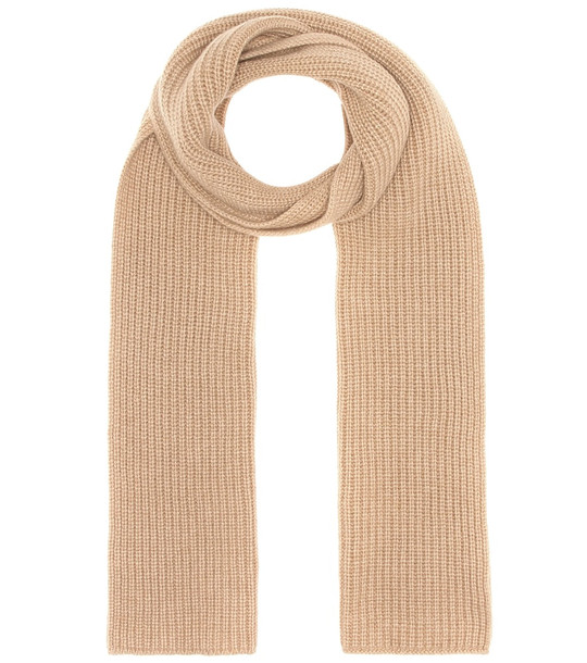 Agnona Ribbed cashmere scarf in beige
