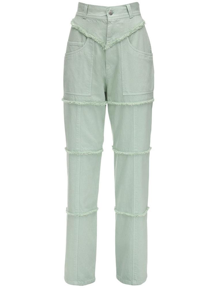 AMBUSH High Waist Denim Pants in mint