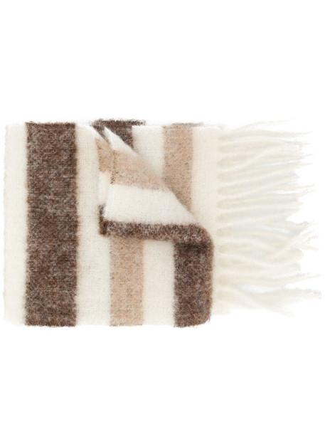 Acne Studios striped scarf in neutrals