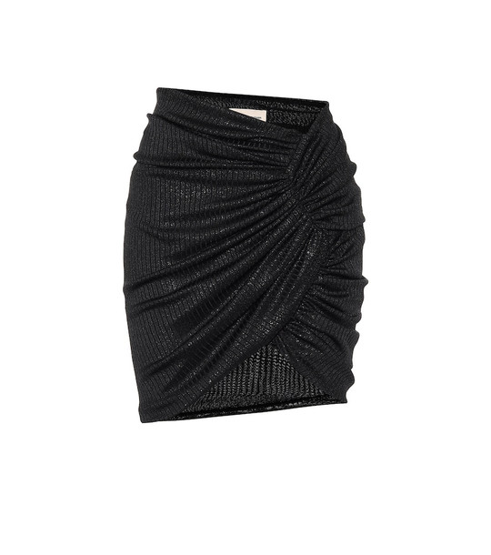 Alexandre Vauthier High-rise stretch-jersey miniskirt in black