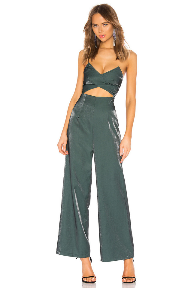 About Us Kimberley Cut Out Jumpsuit in green