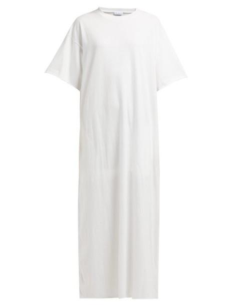 Raey - Jersey Maxi T Shirt Dress - Womens - White