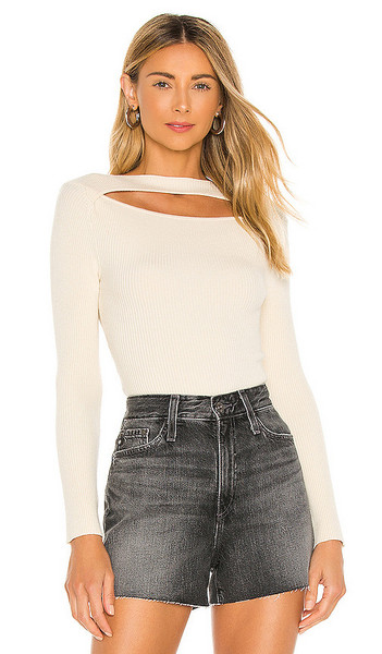 h:ours Callista Sweater in Cream in ivory