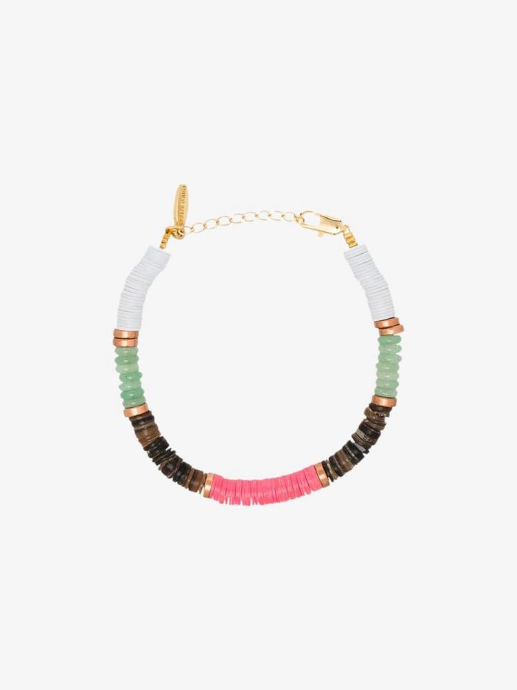 ALL THE MUST multicoloured beaded bracelet in white