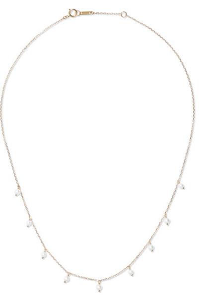 Mizuki - 14-karat Gold Pearl Necklace