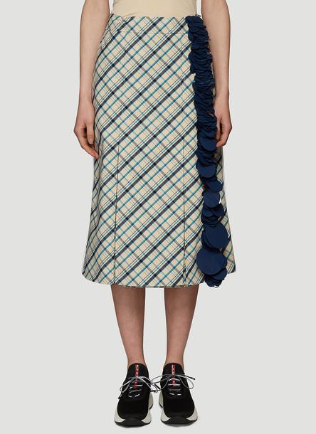 Prada Gabardine Sequins Skirt in Black size IT - 40
