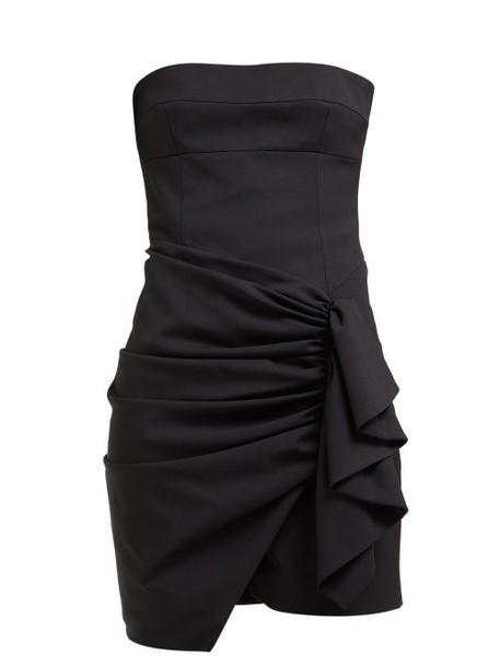 Alexandre Vauthier - Ruched Strapless Wool Blend Mini Dress - Womens - Black