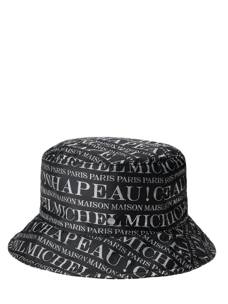 MAISON MICHEL Jason All Over Michel Bucket Hat in black / silver