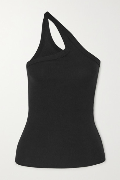 The Line By K - Driss One-shoulder Ribbed Stretch-jersey Top - Black