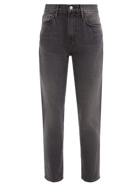 Frame - Le Nouveau Straight-leg Jeans - Womens - Dark Grey